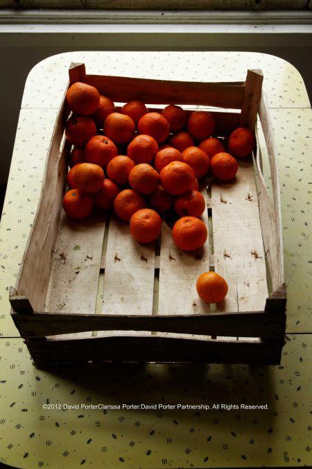 Crate of Seville oranges