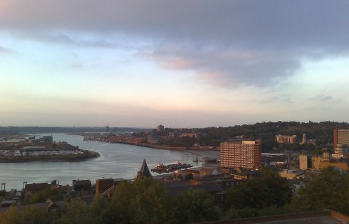 The Medway at Chatham, from Fort Pitt Hill in Rochester