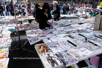 Deptford Market, the cheap magazine stall