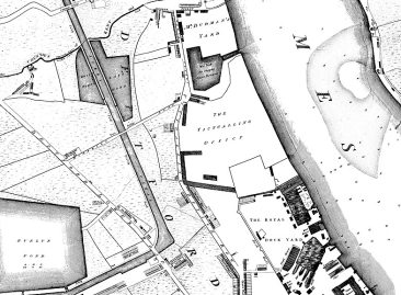 Map of Deptford and Docks