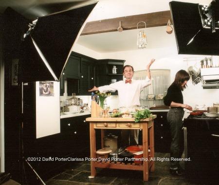 Keith Floyd and Clarissa Porter cooking in Devon.