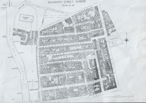 Map of the Old Nichol district of Bethnal Green