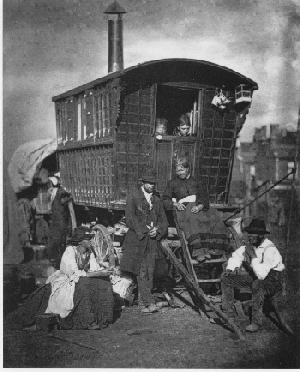Gypsy caravan in the 19th Century