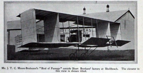 Short Brothers Factory at Shellbeach with Brabzon's Bird of Passage