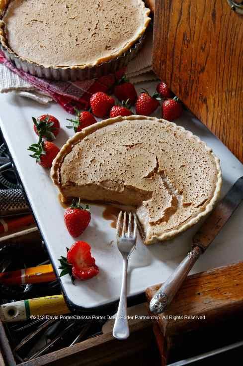 Gypsy Tart Recipe with fresh strawberries