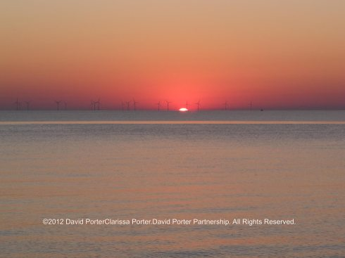 Sunrising over the Thames estuary